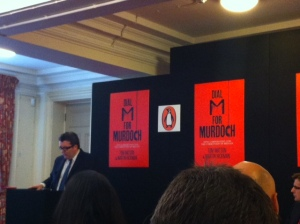 Tom Watson speaking about Dial M for Murdoch